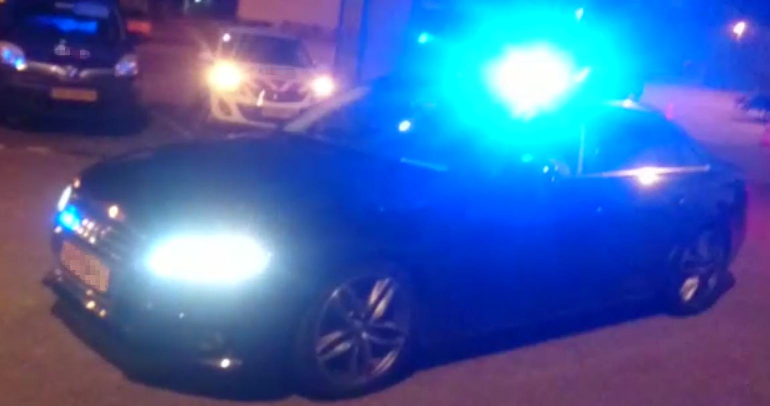 Audi met blauw