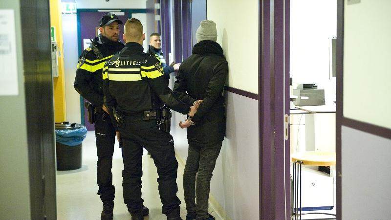Aanhouding politiebureau