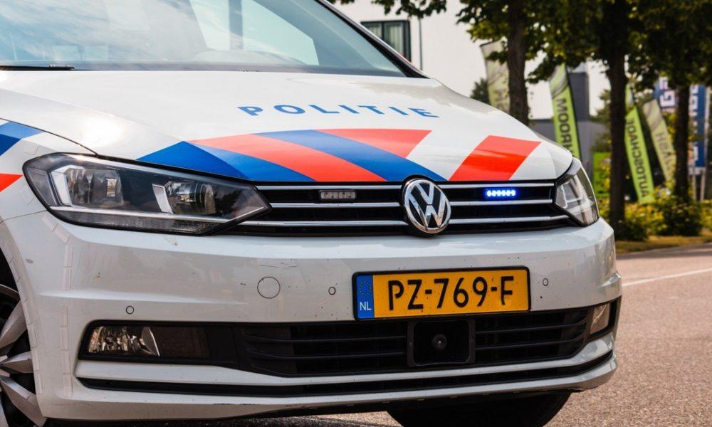 Aanrijding met politieauto.